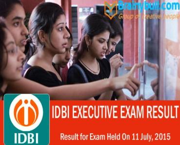 IDBI result 2015