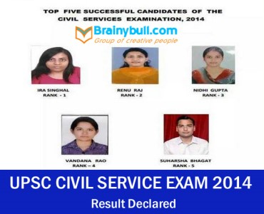 UPSC Civil Service Exam 2014 Result