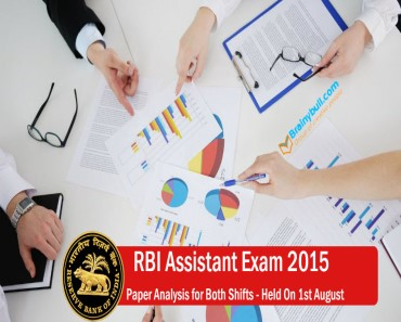 RBI Assistant Exam 2015 1st August