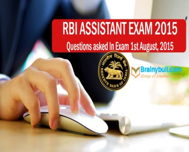 questions asked in rbi assistant exam 2015
