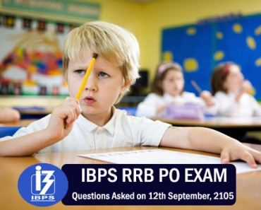 Questions asked in IBPS RRB PO exam 12th September 2015