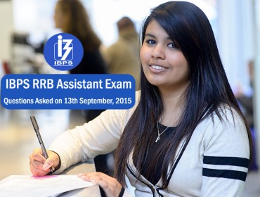 questions asked in IBPS RRB Assistant exam 13th September 2015