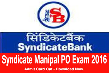 Syndicate manipal po exam Admit Card