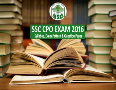 ssc cpo exam syllabus 2016