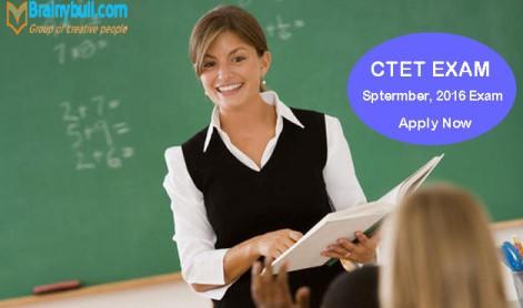 CTET September 2016 Online Application Form