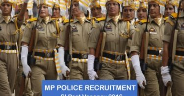 MP police si vacancy 2016