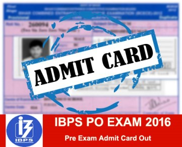 ibps po pre exam call letter download